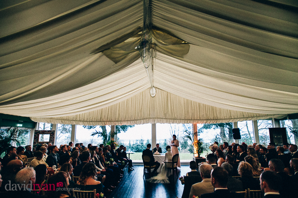 tinakilly country house wedding venue the marquee wedding ceremony