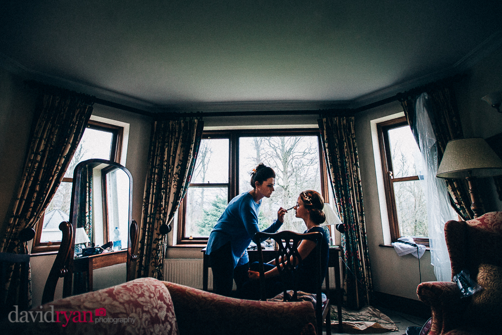 tinakilly country house wedding venue bride gets ready
