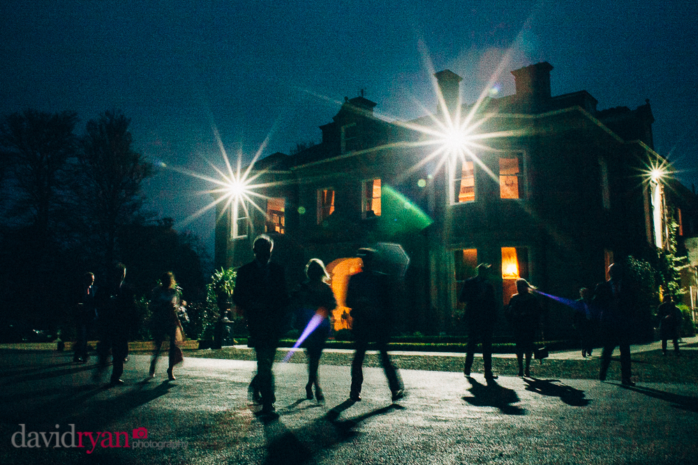 tinakilly country house wedding venue by night