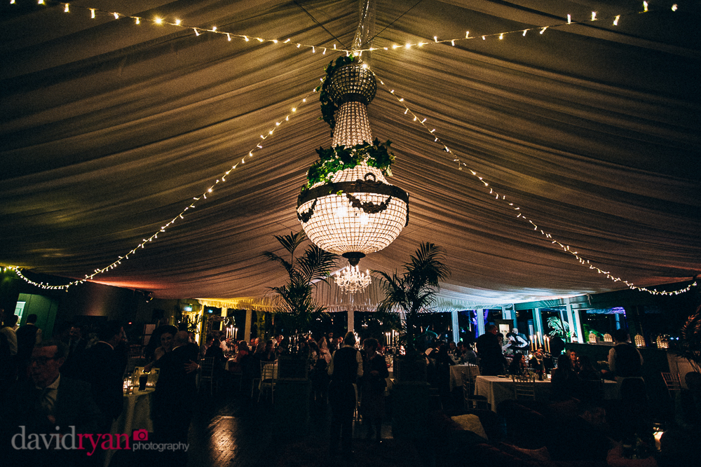 tinakilly country house wedding venue the marquee for wedding dinner