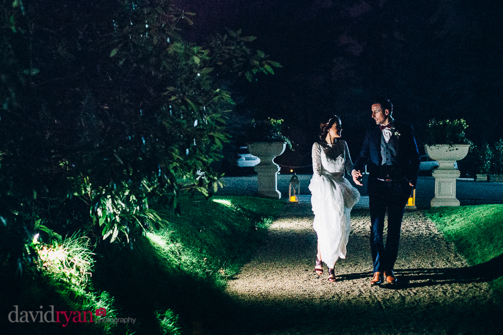 tinakilly country house wedding venue the bride and groom