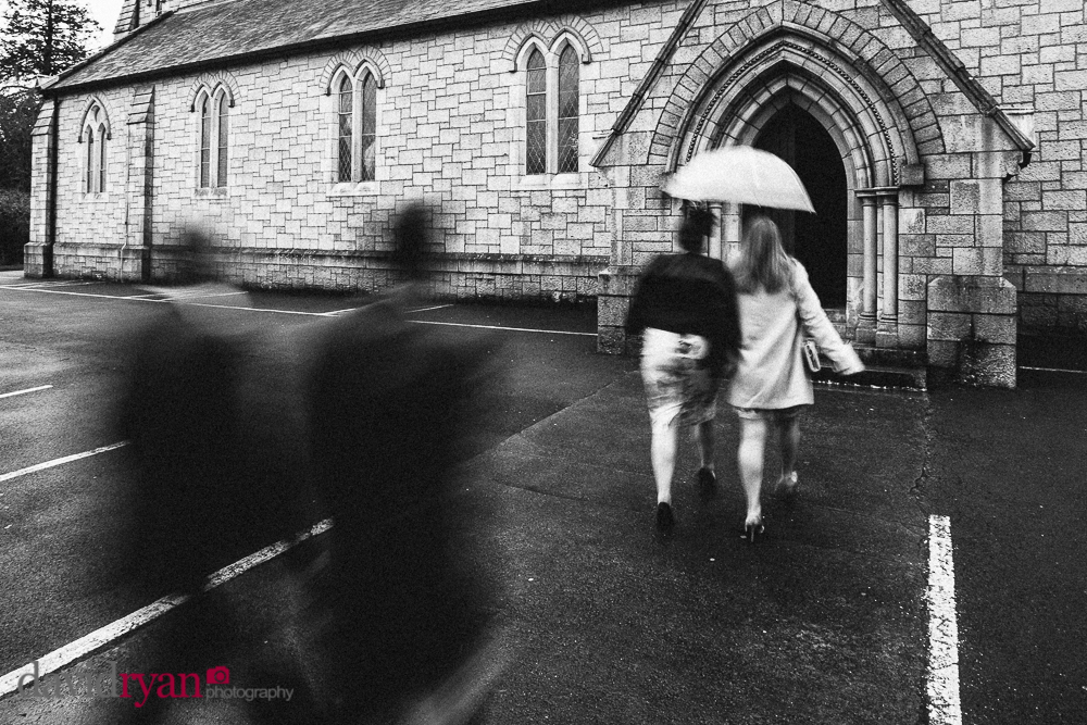 wedding guests at st. mary and michael church rathdrum