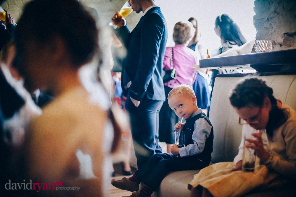 children drinking lemonade at the ice house