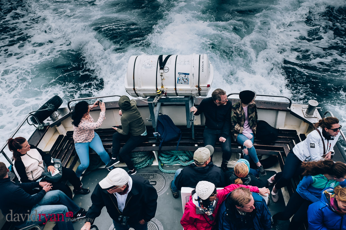 doolin ferry on the sea