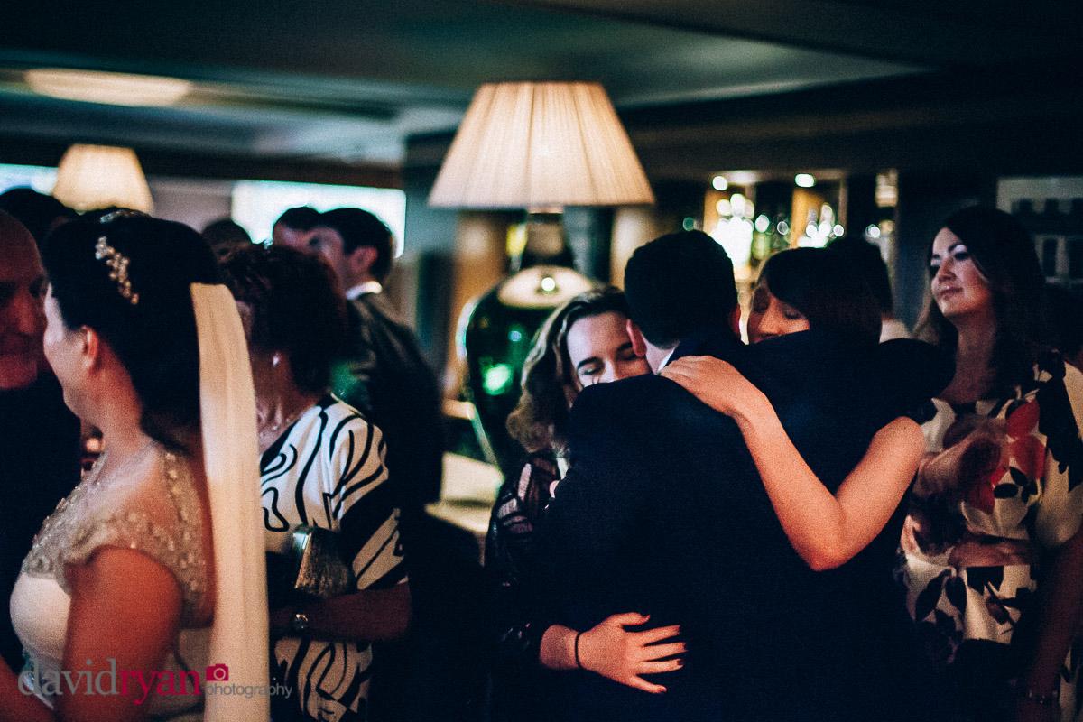 the groom gets a hug at virginia park lodge