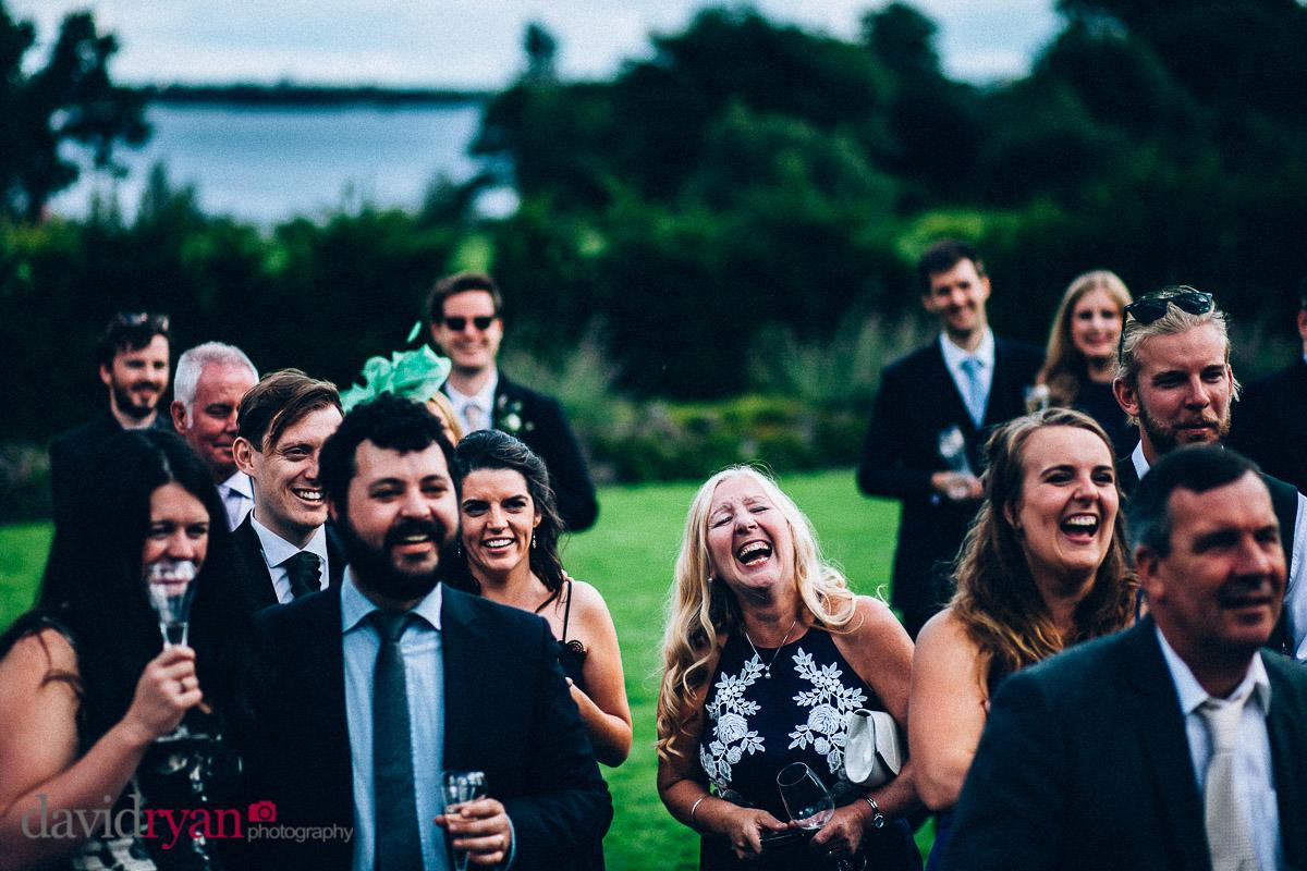 guests laughing at speech at virginia park lodge