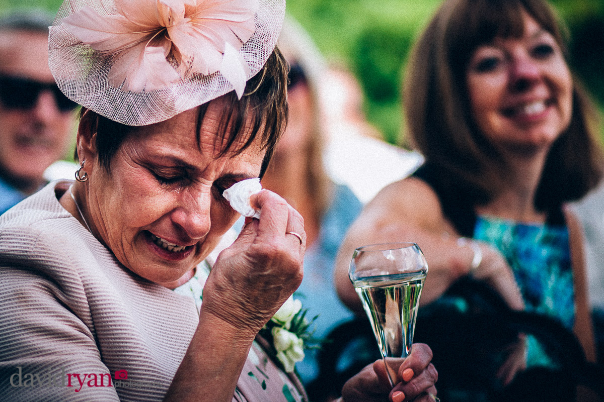 mother of the bride crying at virginia park lodge wedding