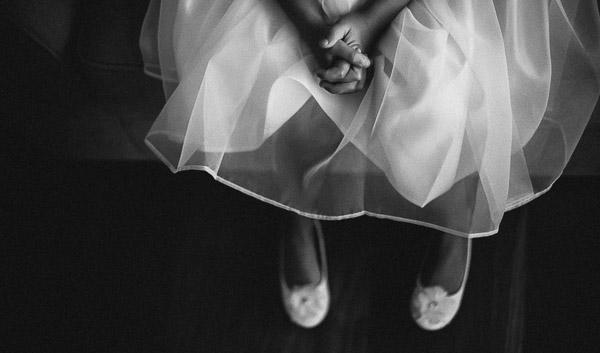 wedding photographer dungarvan flowergirl's dress