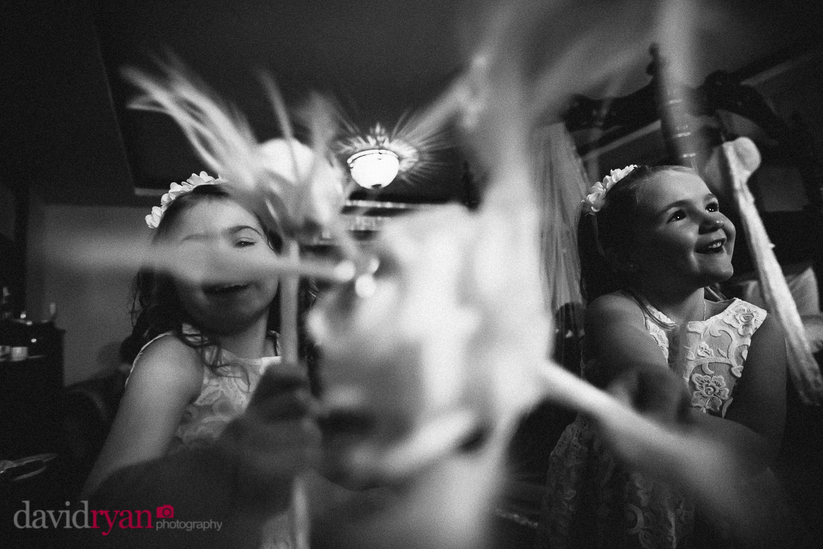 flower girls at a dublin wedding