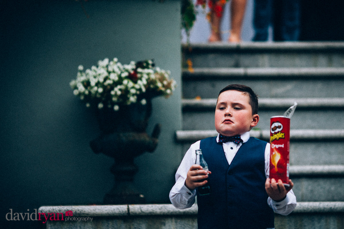 boy with crisps