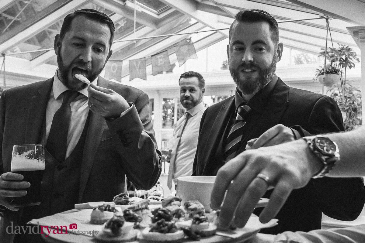 three men with beards