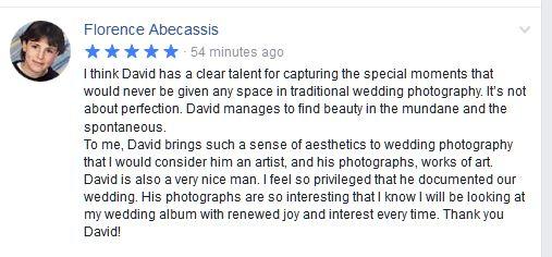 wedding photographer review dublin