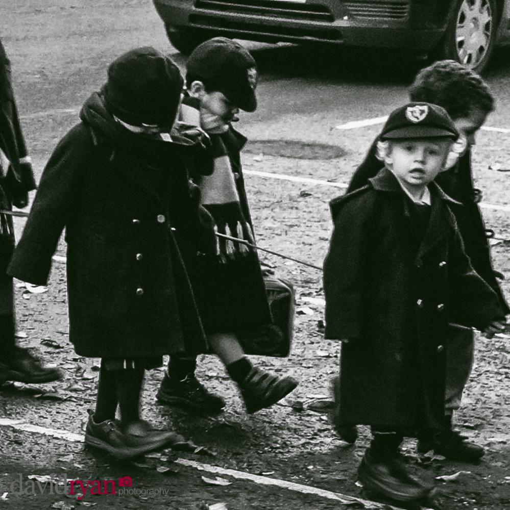 children crossing a street