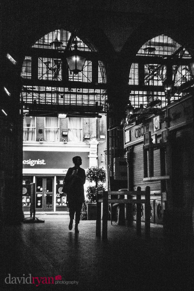 person walking in dublin