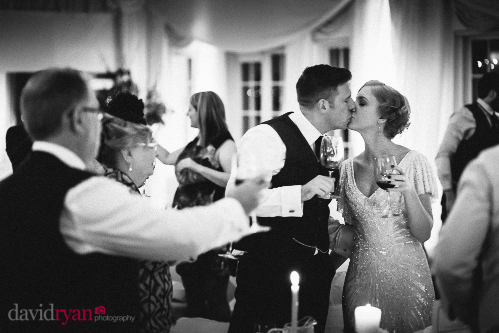 toast to bride and groom at rathsallagh house