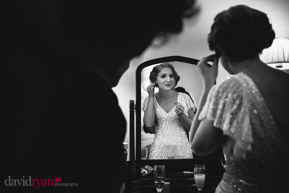 the bride in the bridal suite at rathsallagh house