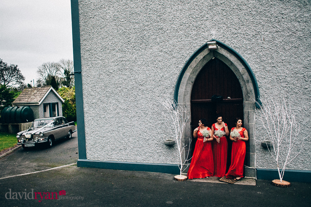 the bridesmaids at Taughmaconnell  church