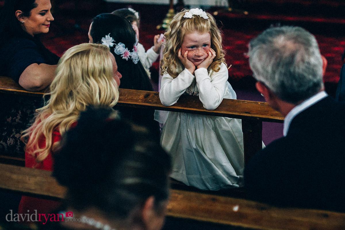 a flower girl at a dublin wedding