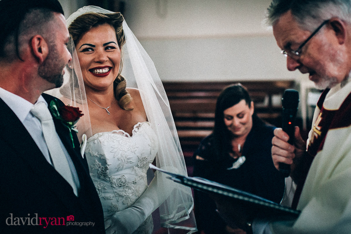 bride and groom in tallaght church