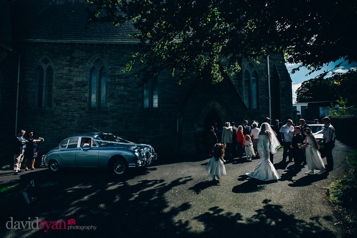 autumn light at a wedding in dublin