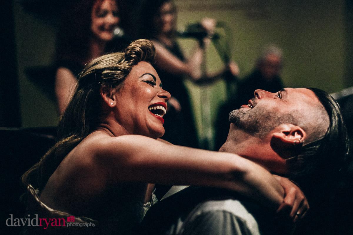 happy married couple on dublin dancefloor