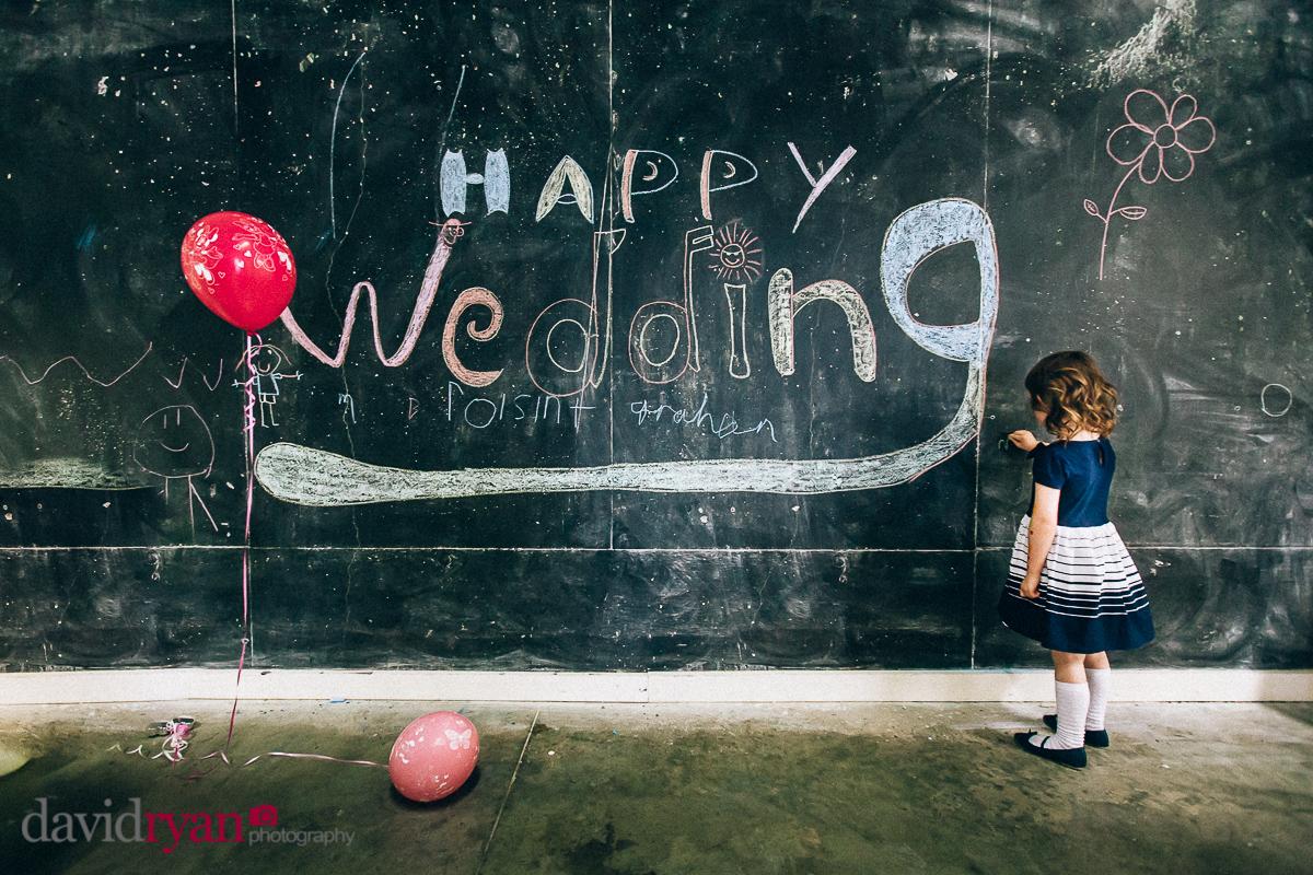 blackboard wedding in glencree youth hostel