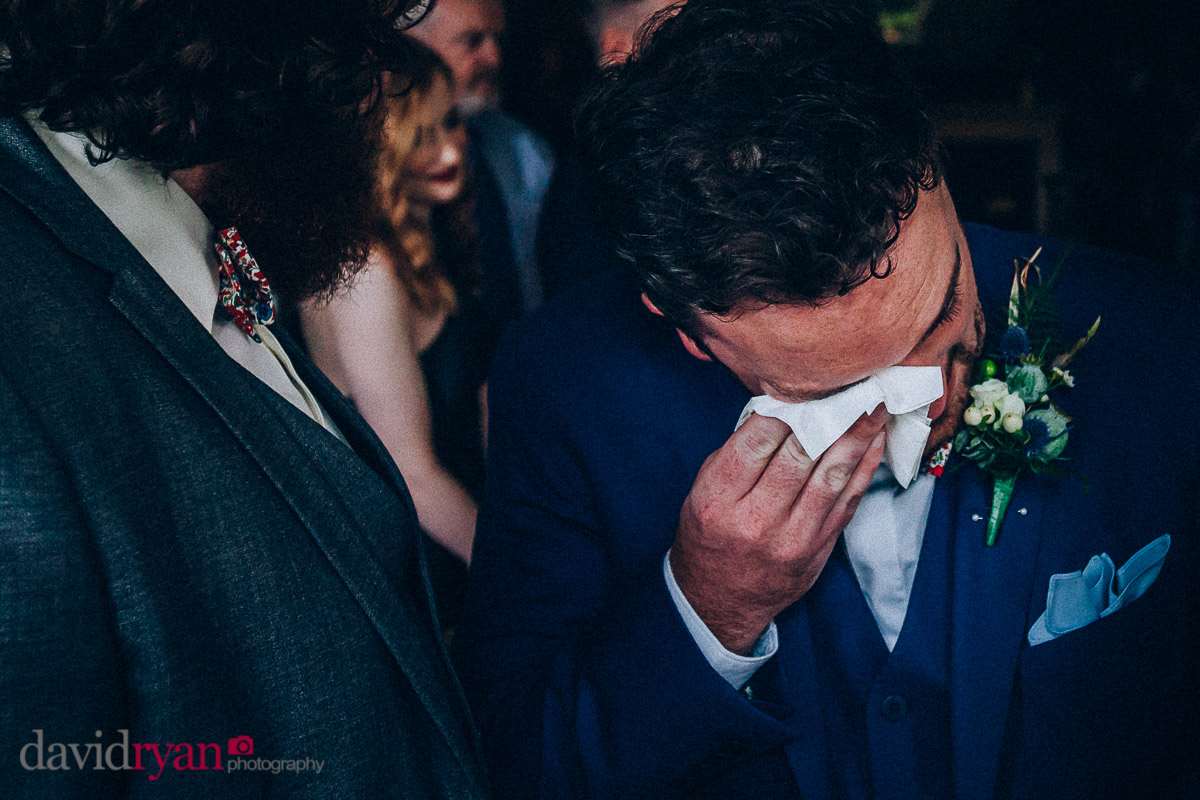 the groom crying at virginia park lodge