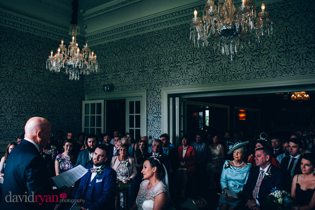 the wedding ceremony room at virginia park lodge