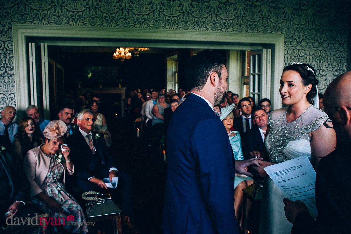 the wedding ceremony at virginia park lodge
