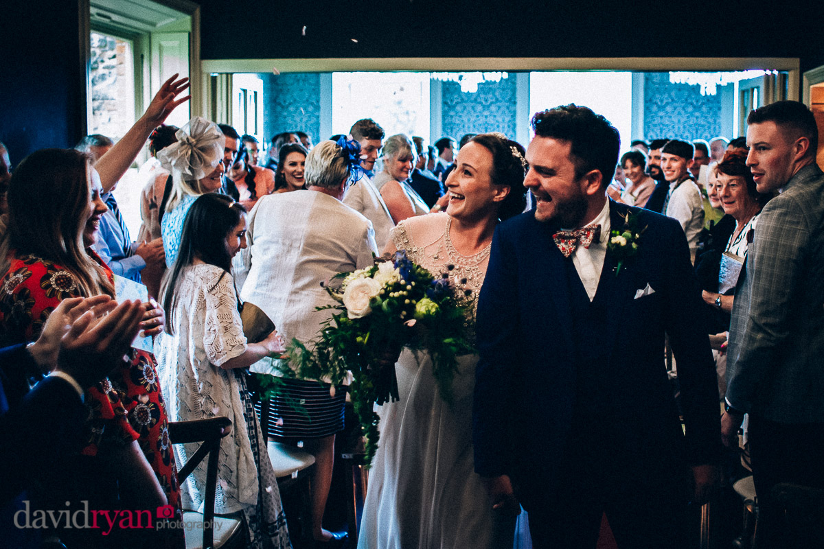 bride and groom just married at virginia park lodge