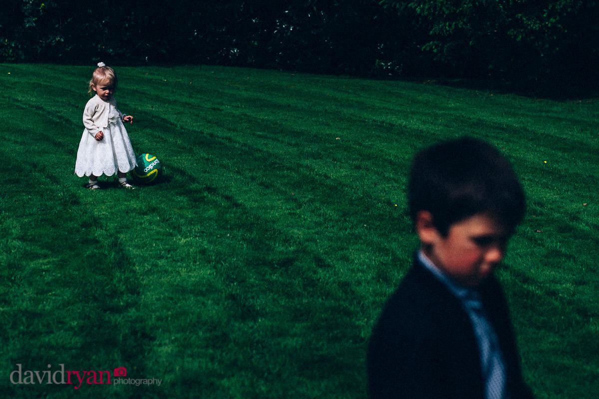 children play football on virginia park lodge lawn