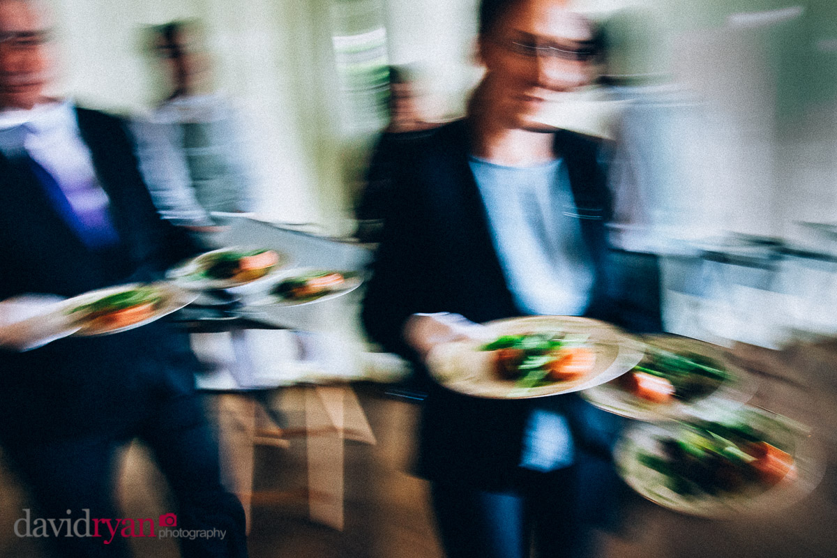 food being served by waiters at virginia park lodge