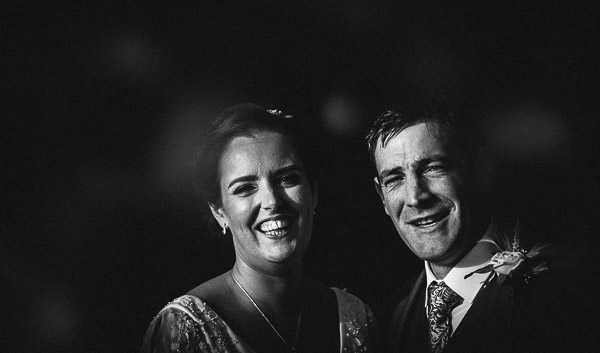 wedding couple smile at millhouse slane