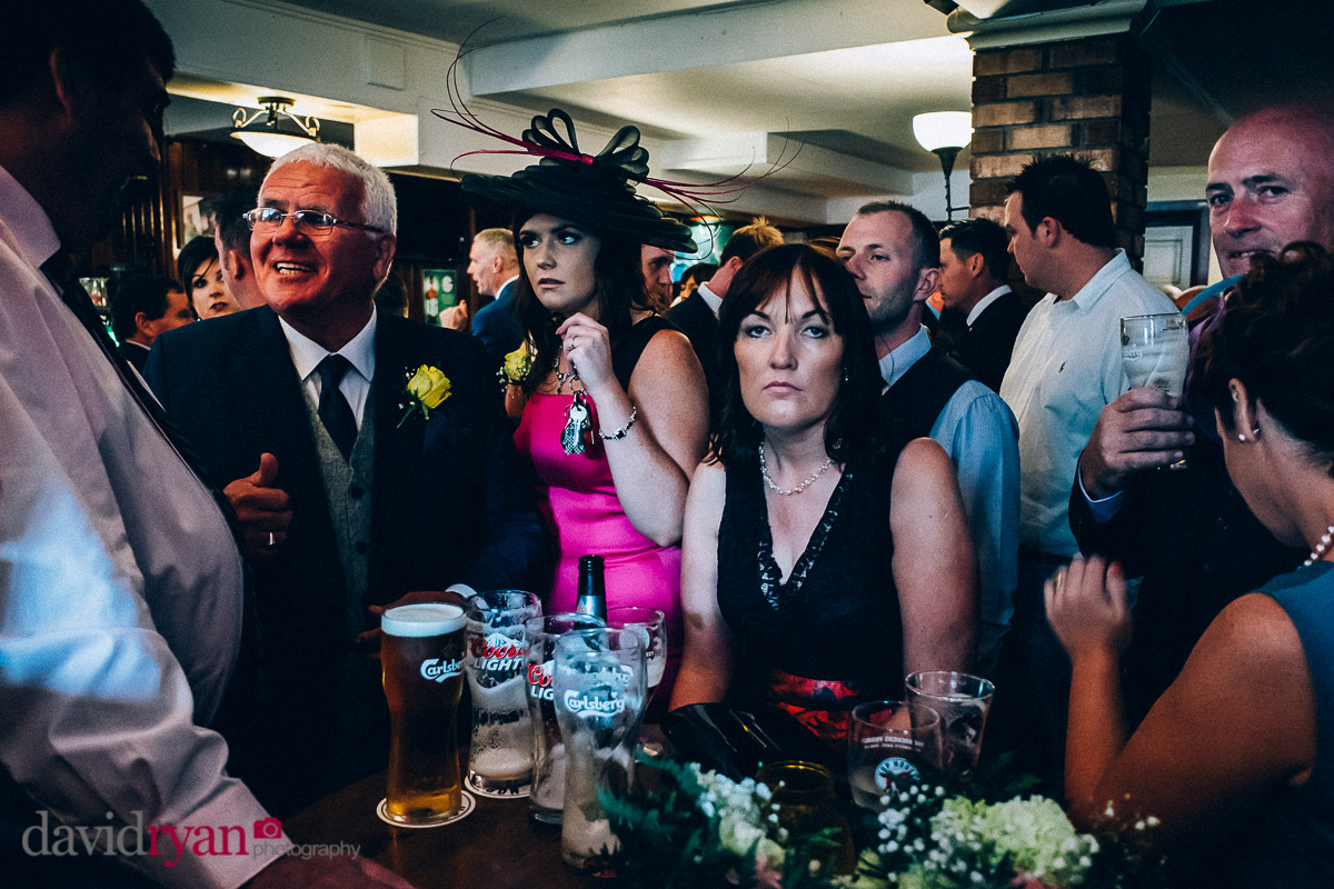 drinking pints in an Irish pub