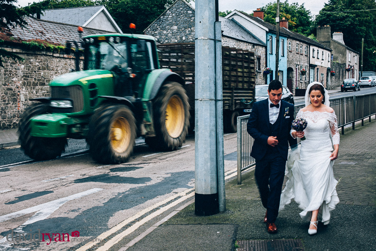 married couple with tractor
