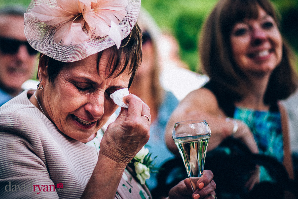 crying during the wedding speech