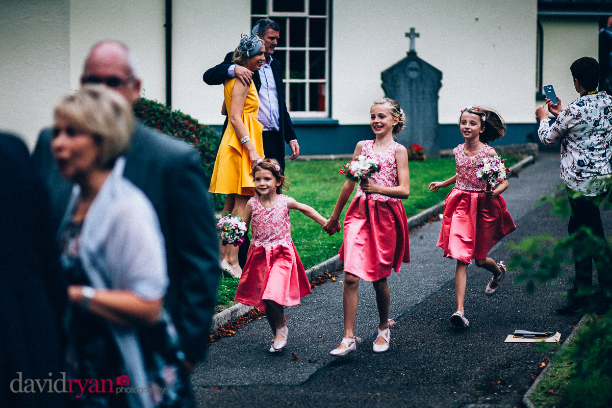 flowergirls at church
