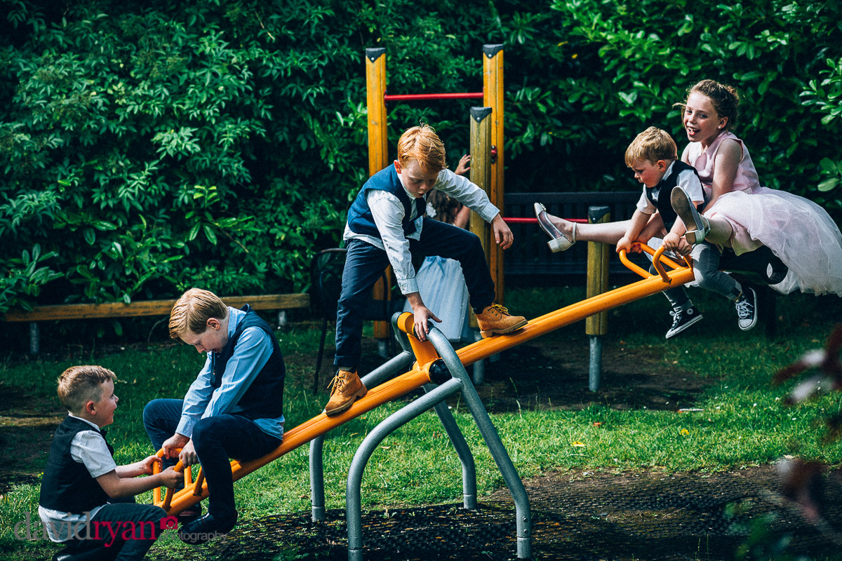 children on a see-saw