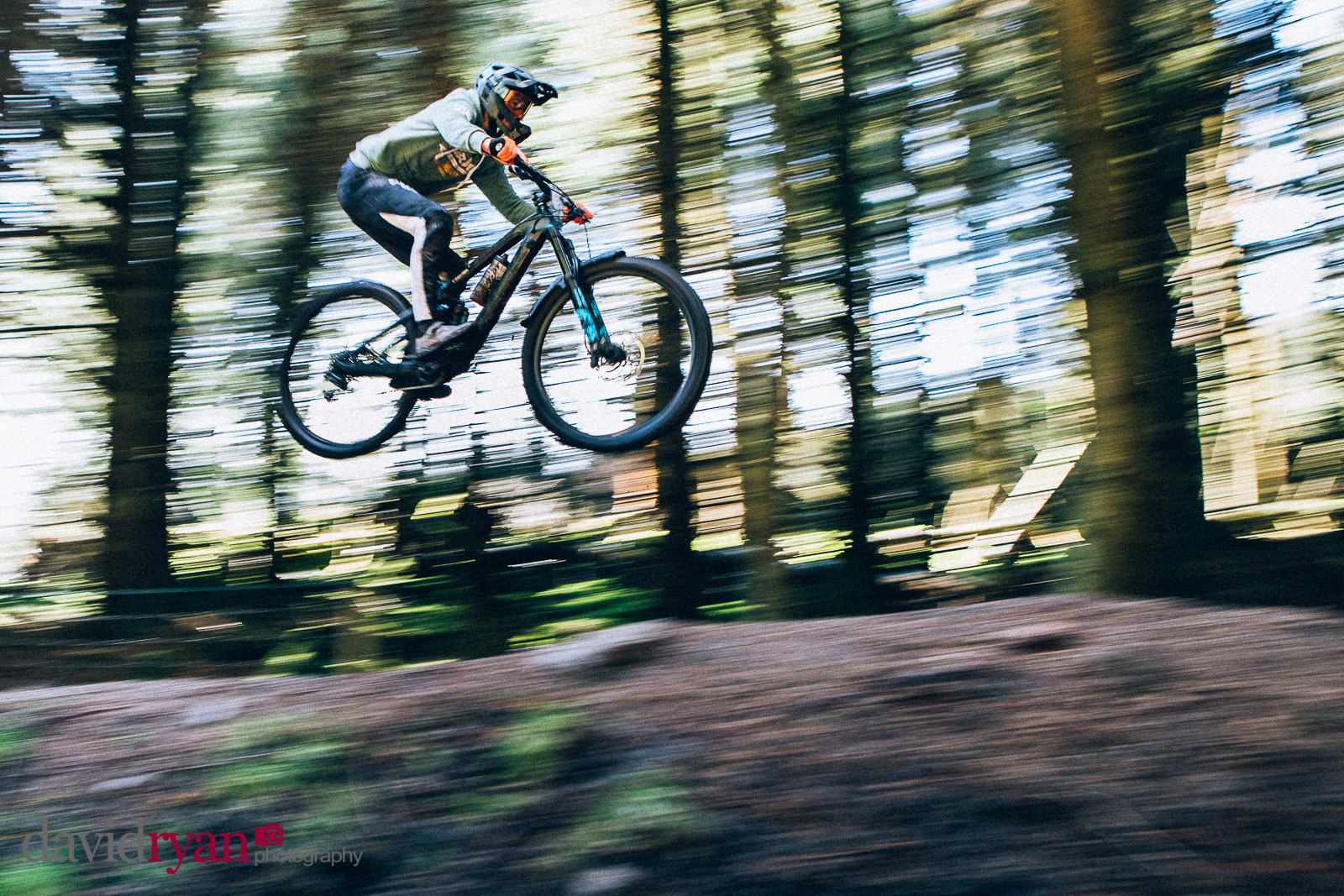 mountain biker in the air